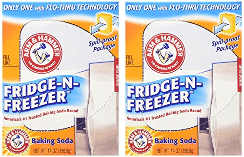 Arm & Hammer Baking Soda, Fridge-N-Freezer Pack, Odor Absorber, 14 oz - 2 Pack (Baking Soda Fridge And Freezer compare prices)
