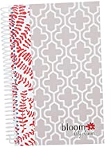 Floral Quatrefoil Cute Daily Fashion Day Planner by bloom daily planners