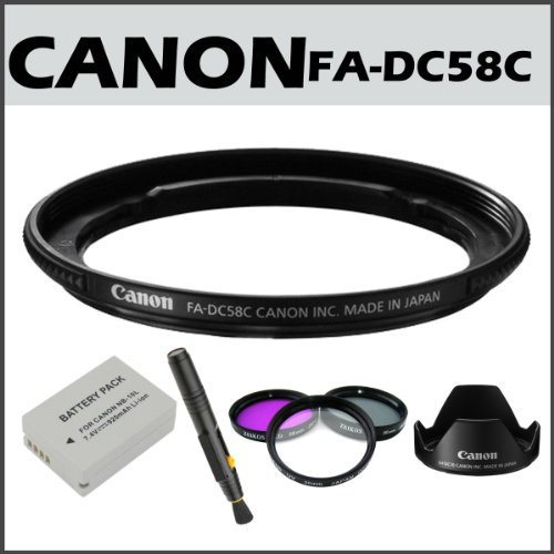Canon 5971B001 FA DC58C 58mm Filter Adapter for Powershot G1 Canon LH DC70 Lens Hood for Canon G1 X Accessory Kit