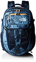 The North Face Recon Daypack (Cool Blue Texture Block Print/Shocking O)