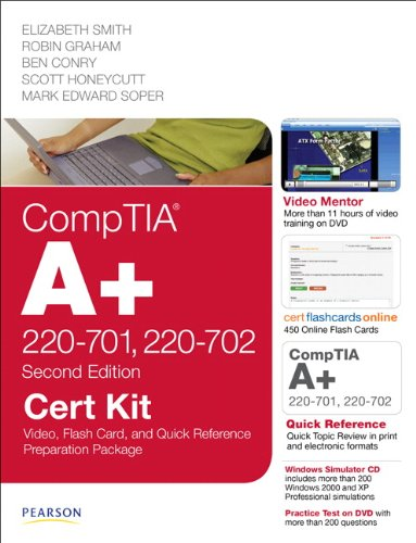 CompTIA A+ 220-701, 220-702 Cert Kit: Video, Flash Card and Quick Reference Preparation Package (2nd Edition) (Cert Kits