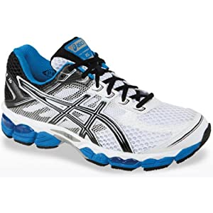 ASICS Men's GEL-Cumulus 15 Running Shoe,White/Black/Royal,10 M US