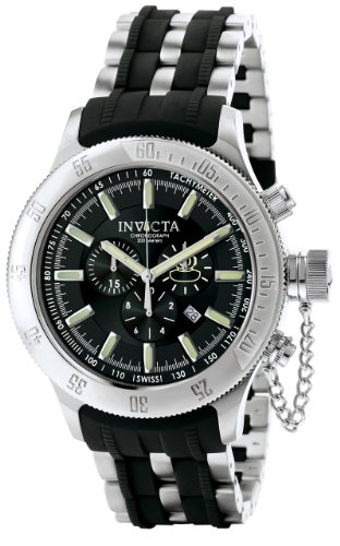 Invicta Men's 6238 Russian Diver Collection Chronograph Black Rubber and Stainless Steel Watch
