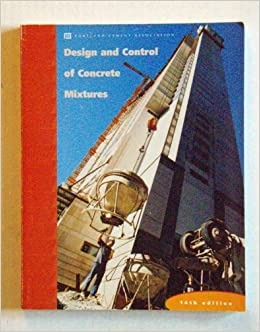 pca design and control of concrete mixtures 15th edition pdf