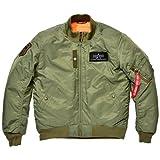 アルファインダストリーズ ALVA-1611W MA-1ジャケット セージグリーン Lサイズ