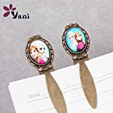 10pcslot Free shipping Vintage Metal Bookmarks with Glass Cabochon for Cartoon Girl Bookmarks Best Gifts