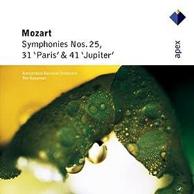 Mozart : Symphonies Nos 25, 31, 'Paris' & 41, 'Jupiter' - Apex