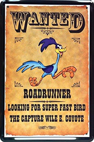 blechschild-wanted-roadrunner-20-x-30-cm-metal-sign-xwanted68