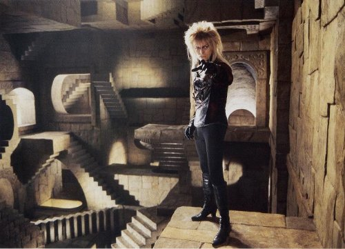 Labyrinth 1986 David Bowie, Jennifer Connelly, Poster 297 x 420 mm
