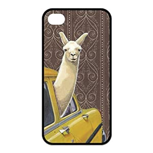 Treasure Design Funny Taxi Llama APPLE IPHONE 4or4s Best Silicone Case