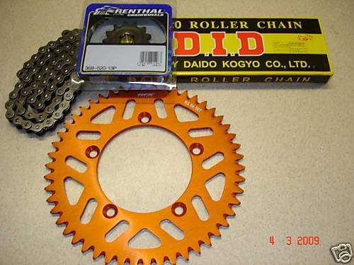 DID Chain And Orange RFX 49/14 Sprocket Kit KTM SX 85 Big or Small Wheel Motocross