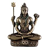 "3.25"" Lord Shiva in Lotus Pose - Hindu God and Destroyer of Evil"