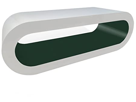 White Gloss and Matt Olive Green Hoop Coffee Table in Various Sizes