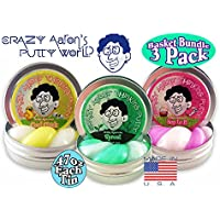 "Crazy Aarons Thinking Putty Mini Tin Holiday Hypercolors ""Hop To It"", ""Sprout"" & ""Cool Chick"" Easter Basket Bundle..."