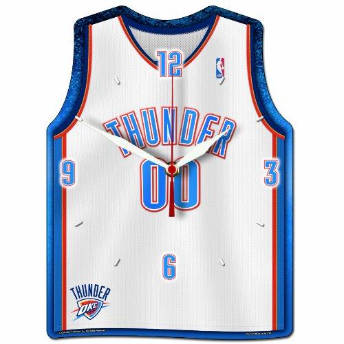 NBA Oklahoma City Thunder High Definition Clock - Jersey Shaped