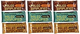 Paleo Simplified Superfood Energy Bar Variety (Pack of 9)