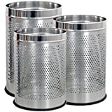 King International- Stainless Steel Perforated Open Dustbin/ Stainless Steel Garbage Bin/Small, Medium And Large...