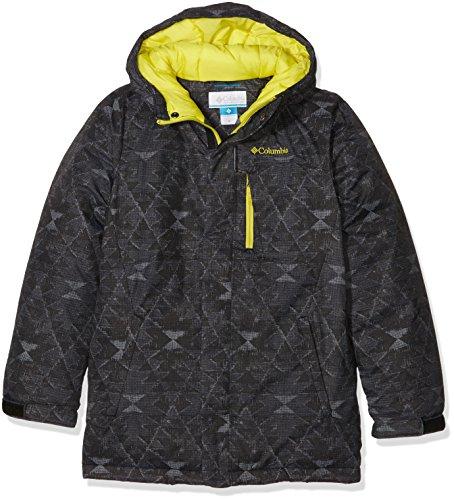 Columbia Alpine SB5496013 Free Fall-Giacca da sci da ragazzo, colore: nero stampa, taglia: M (taglia del produttore: M)