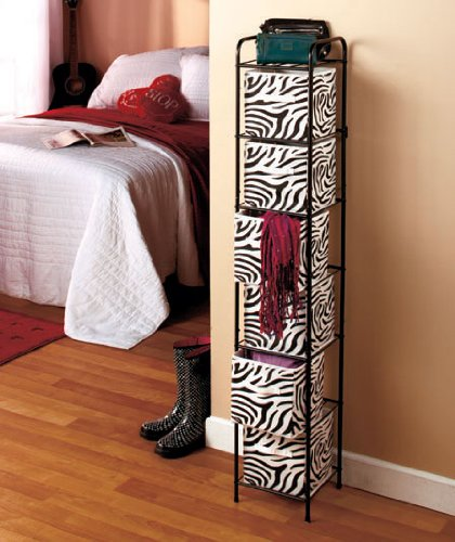 Zebra Bathroom Ideas : Bin Storage Unit – Zebra with Black Frame Zebra Standard Tissue ...