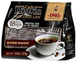 Caf? Diario Heritage Line 1903, Dark Roast, 18 Count (Pack of 6)