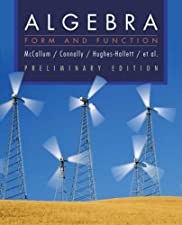 Algebra Form and Function by William G. McCallum