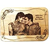 FLORAL 1 ,NMV Wooden Plaque,Engraved Wooden Photo Plaque,Laser Engraved Photo On Wood