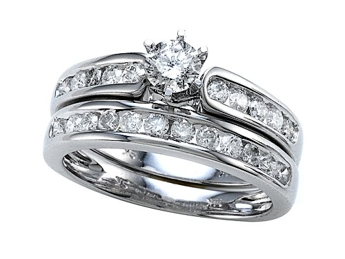 Round Diamonds Wedding Engagement Ring Set - IGI Certified LIFETIME WARRANTY