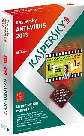 Kaspersky antivirus 2013 (1 poste, 1 an)