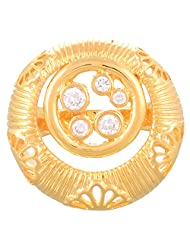 Creation Jewellery Gold Rodium Plated Gold Plated Clip-On Ring For Women - B00Z9USWRE