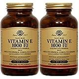 Solgar - Vitamin E 1000 IU (d-Alpha Tocopherols & Mixed Tocopherols) 100 Mixed Softgels- 2 Pack (Color: Standard Packaging, Tamaño: 100 Softgels (Pack of 2))