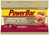 PowerBar Energy Blasts Gel-Filled Chews, Raspberry, 2.12-Ounce Pouches (Pack of 12)