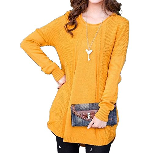 BALDR (Baldr) choose from color knit Dolman tunic dress (yellow)