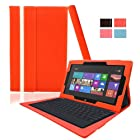 KHOMO Red Leather Case For Microsoft Surface RT Windows 8 tablet