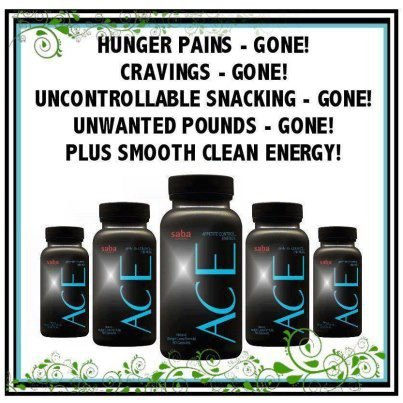 Saba ACE A.C.E Appetite Control Energy Dietary Supplement Pills 60 count