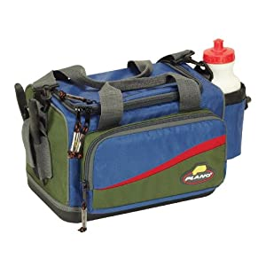Plano Softsider Tackle Bag with Five 3600 Stowaways and One 3500 Stowaway (Green/Blue)