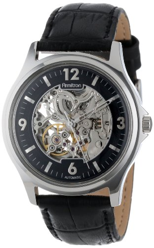 Armitron Men's 20/4891SVSV Silver-Tone Automatic Black Strap Watch