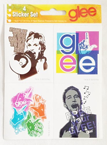Glee Stickers - Officially Licensed from 2010 (4 Sticker Set)