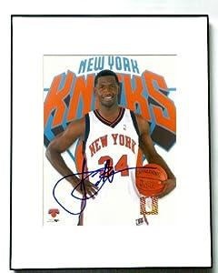 ANTONIO MCDYESS Autograph Signed NEW YORK KNICKS Photo by Autograph Pros, LLC