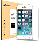 Coolreall Premium Tempered Glass Screen Protector for iPhone 5 / 5C / 5S (0.33mm HD Ultra Clear)