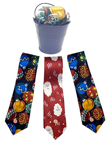 Best Novelty Silly Prank Gag Fun Funny Blinking Musical Christmas Tie Gift Pack Idea Coworker Teacher Appreciation (Blinking & Musical Tie Multi Pack) (Fun Ties compare prices)