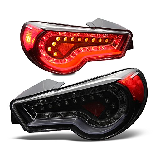 Exstream Industries 13-14 Scion Fr-S Led Tail Lights - (Black / Clear)