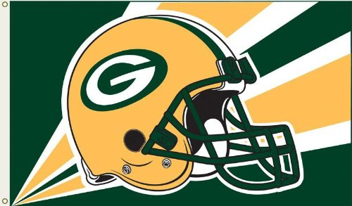 NFL Green Bay Packers Helmet Flag with Grommets at Amazon.com