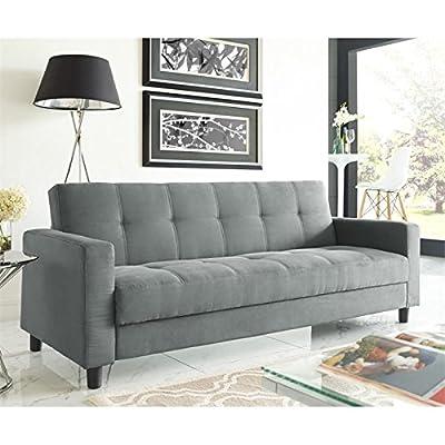 Serta Naples Dream Convertible Sofa in Grey