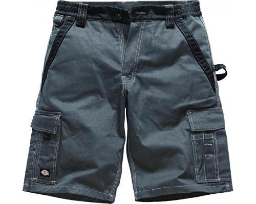 Dickies, IN30050, Pantaloncini Industria 300 grigio / nero GBK62