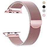 yamen Compatible for Apple Watch Band 38mm 40mm Women Milanese Loop for iwatch Band Series 2 Series 3 Series 4 Rose Gold (Color: 38mm 40mm rose gold, Tamaño: 38 mm/40mm)