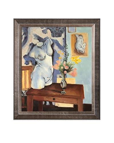 Henri Matisse Greek Torso With Flowers Framed Canvas