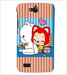 PrintDhaba Cartoon D-3876 Back Case Cover for HUAWEI HONOR HOLLY (Multi-Coloured)