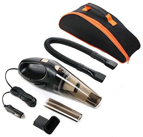 Car Vacuum Cleaner,Hikeren DC 12-Volt 106W Wet&Dry Handheld Auto Vacuum Cleaner,14FT(4.3M)Power Cord with One Carry Bag (Vacuum Cleaner Car Portable compare prices)