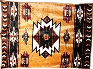 Flauschdecke Western Kuscheldecken Westernmotiv Indianer, 160x220cm, Acryl
