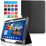 MoKo Samsung Galaxy Tab 3 10.1 and Galaxy Tab 4 10.1 Case - Slim Folding Cover Case for Samsung Galaxy Tab 3 10.1 and Tab 4 10.1 Inch Android Tablet, BLACK (with Smart Cover Auto Wake / Sleep)